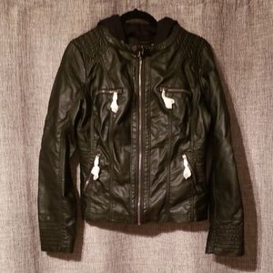 Motorcycle jacket- faux leather